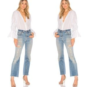 Free People Brown Eyed Girl Blouse in White